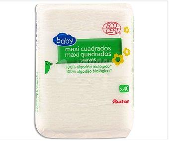Auchan Algodones Bio Maxi Bebé 40 unidades