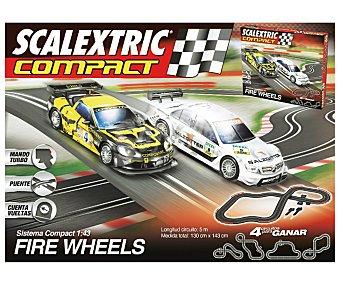 SCALEXTRIC Circuito Pista de Carreras, Compact Fire Wheels 1 Unidad
