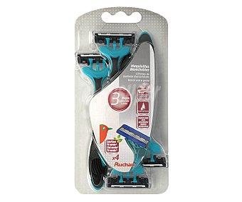 Auchan Maquinilla de afeitar desechable, triple hoja 3 unidades