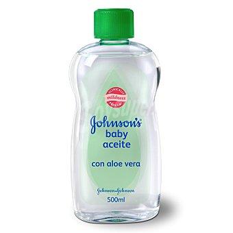 Johnson's Baby Aceite corporal con aloe vera Botella de 500 ml