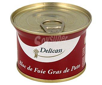 Delicass Bloque de foie gras de pato  Lata 130 g