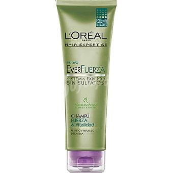 Expertise L'Oréal Paris Champú everfuerza Fuerza & Vitalidad con aceites botánicos romaro y enebro para cabellos dañados y quebradizos Tubo 250 ml