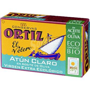 Ortiz El Velero Atún claro en aceite de oliva virgen extra ecológico Lata 82 g neto escurrido
