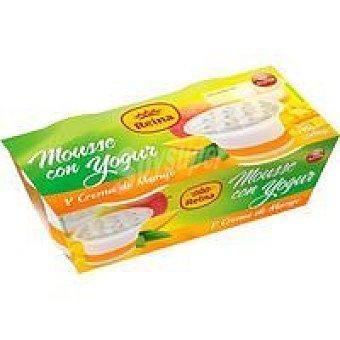 Postres Reina Mousse de yogur-mango Pack 2x90 g