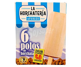 La Horchatería de Panach Polo de horchata de chufa de Valencia 6 unidades de 70 mililitros