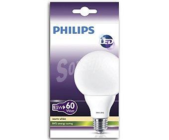 Philips Bombilla led globo 9.5 Watios, con casquillo E27 (gruesa) y luz cálida 1 unidad