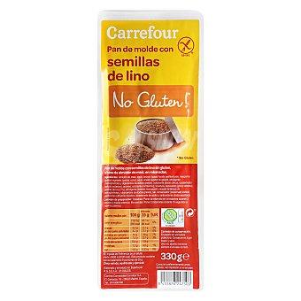 Carrefour-No gluten Pan de molde con lino 330 g