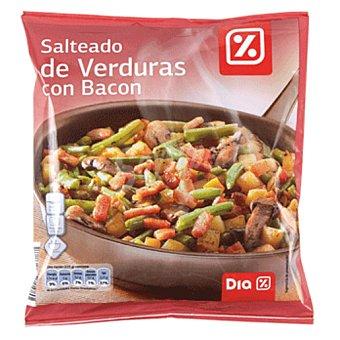 DIA Salteado de verduras con bacon bolsa 450 gr Bolsa 450 gr