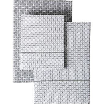 Casactual Iconic Juego de sábanas geométrico color gris cama 135 cm