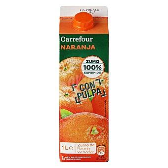 Carrefour Zumo natural de naranja Brik de 1 l