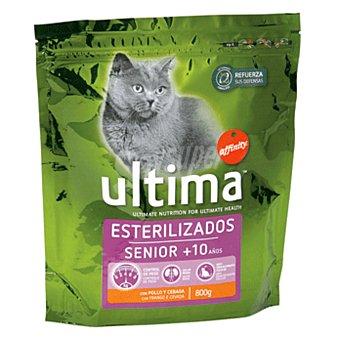 Ultima Affinity Pienso para gatos esterilizados senior con pollo  Paquete 800 g
