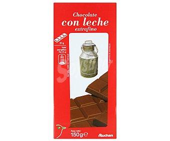 Auchan Chocolate con leche 150 gramos
