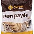 Pan payés sin gluten, huevo, soja, frutos secos ni semillas Bolsa 450 g Adpan