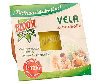 Bloom Vela ambientadora de citronella con ingredientes naturales para matar mosquitos 67 g