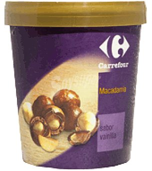 Carrefour Tarrina de helado de vainilla/ Macadamia 500 ml