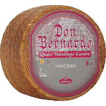 Don bernardo plata Queso curado D.O. Manchego 100% oveja  3 kg (peso aproximado pieza)