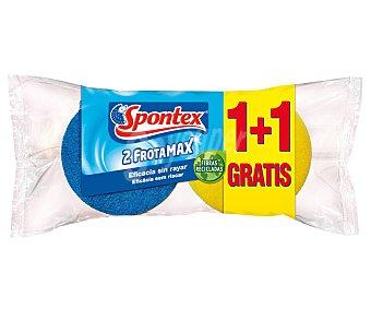 Spontex Estropajo de fibra con esponja especial salvauña Paquete 2 unidades