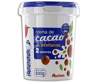 Auchan Crema cacao 2 sabores Bote 500 g
