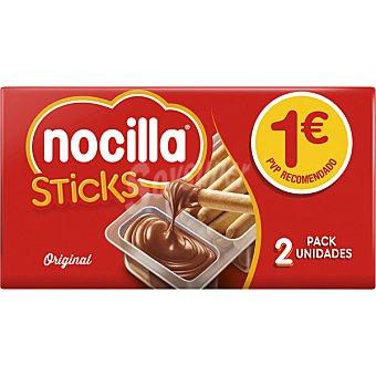Nocilla Sticks de pan con crema de cacao paquete 70 g 3 unidades