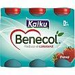 yogur líquido sabor fresa pack 6 unds. 65 ml Kaiku Benecol