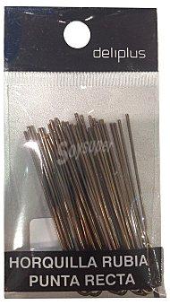 DELIPLUS Horquilla cabello rubio  Paquete de 24 uds