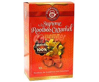 Pompadour Infusión de rooibos con caramelo 10 unidades 20 gramos