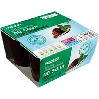 Eroski Yogur soja de chocolate 4x100g