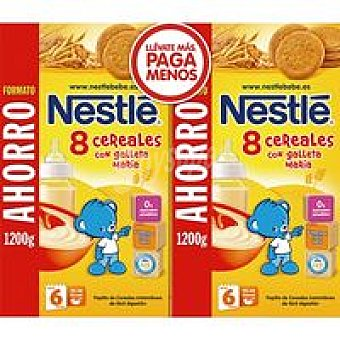 Nestlé Papilla 8 cereales-galleta Pack 2x1200gr