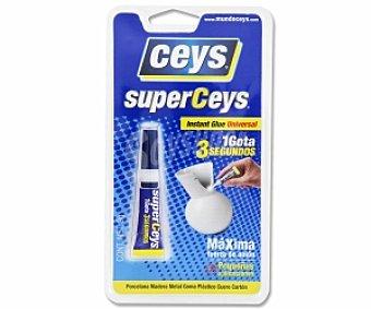 Ceys Adhesivo Instantáneo Transparente Super Rápido Superceys de 3 Gramos