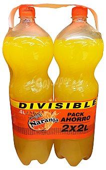 Hacendado Naranja con gas 2 botellas de 2 litros