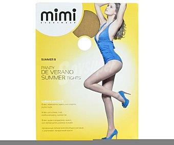 MIMI summer Panty 8 den super transparente mimi de verano, color sole, talla XL