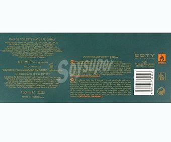 Crossmen Estuche para hombre con colonia vaporizador (100ml) más desodorante spray (150ml) 1 unidad