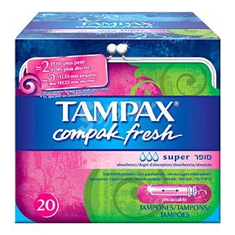 Tampax Tampones con aplicador Fresh Super Caja de 20 uds