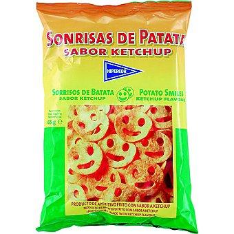 HIPERCOR Snack sonrisas de patata sabor kétchup  bolsa 65 g