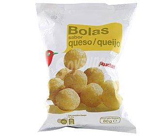 Auchan Snack de bolas de maíz con sabor a queso Bolsa de 80 g