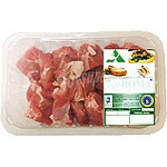Ecoroma Carne magra troceada de jamón de cerdo ecológico peso aproximado Bandeja 500 g