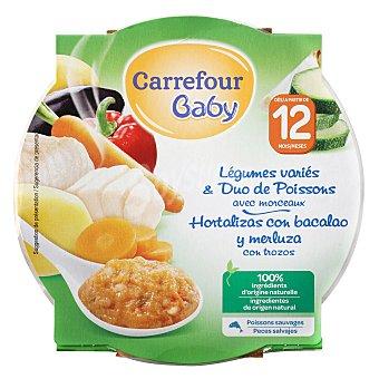 Carrefour Baby Tarrito de hortalizas variadas y pescado 230 g