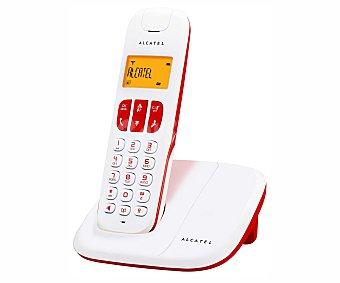 Alcatel Teléfono inalámbrico 180 rojo