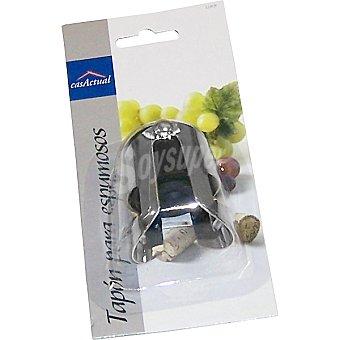 CASACTUAL Tapon para cava y champagne en plastico cromado