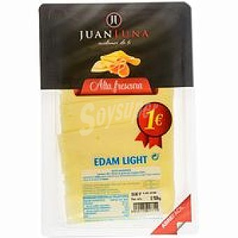 J.luna Lonchas queso Edam light Sobre 100 g