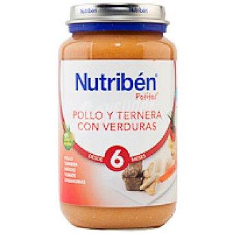 Nutribén Potito de pollo con ternera-verduras 250 g