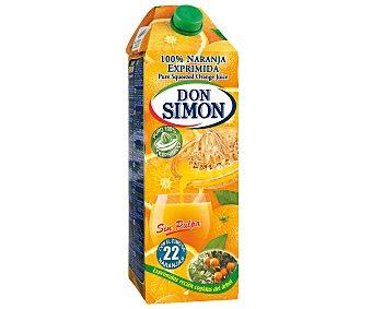 Don Simón Zumo de naranja de Valencia recién exprimido sin pulpa Envase 2 l