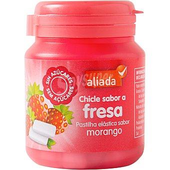 Aliada Chicles con sabor a fresa sin azúcar 50 unidades bote 70 g 50 unidades