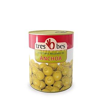TRES BES aceitunas rellenas de anchoa  lata 345 gr
