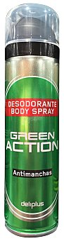 DELIPLUS Desodorante spray hombre green action antimanchas Bote de 150 cc