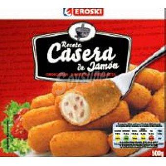 Eroski Croquetas caseras de jamón Bolsa 500 g
