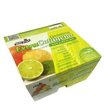 Yelli Fruit Gelatina citrico extracolageno sin azucar Pack de 4x100 g.