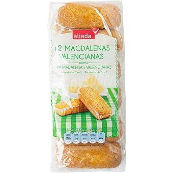 ALIADA Magdalenas valencianas  12 unidades envasadas de 2 en 2 (350 g)