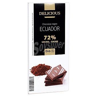 DIA DELICIOUS Chocolate negro 72% cacao origen Ecuador tableta 100 gr Tableta 100 gr