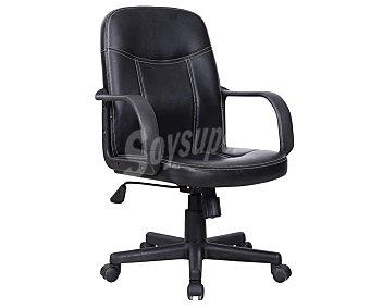SDPE Silla de oficina o escritorio regulable de 91 a 101 centímetroscon reposabrazos modelo Desk, fabricada en Pvc y polipiel acolchada, 101x58 centímetros Silla Oficina pvc+polipi